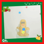 Gingerbread Cookie Pre-K Christmas Fun Craft for Kids with Printable Worksheets (4-6 Year Olds)