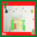 Fit the Shapes into the Gingerbread House Puzzle Game - Christmas Indoor Activity for Toddlers with Printable Worksheets (1-2 Year Olds)