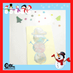 Colorful Snowman Easy Kids Drawing Activity with Free Printable Worksheets (4-6 Year Olds)