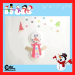 Snowman Paper Plate Art Craft for Kids with Free Printable Worksheets (4-6 Year Olds)